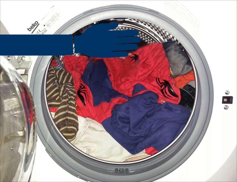 اندازه لباس در ماشین لباسشویی